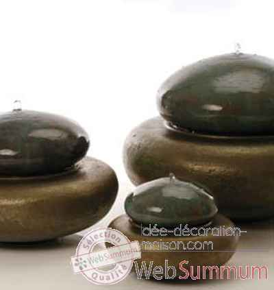 Fontaine Heian Fountain medium, bronze et vert-de-gris -bs3365vb