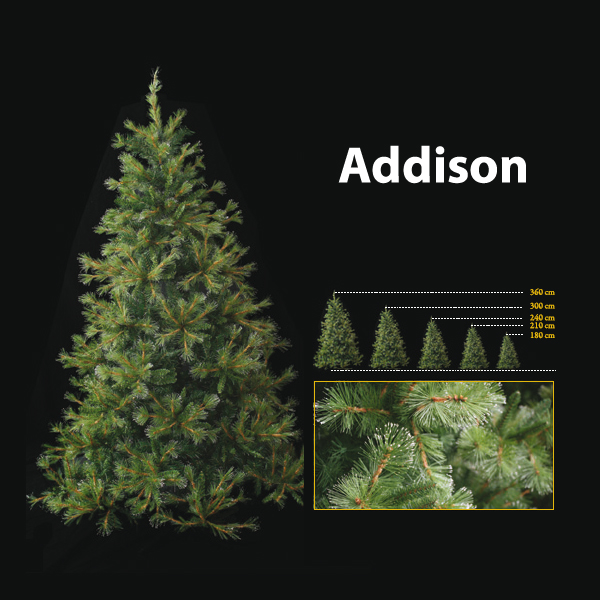 Sapin de Noël 120 cm Professionnel Addison Hard Needle Pine Tree Vert