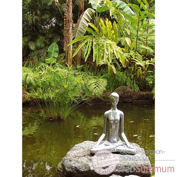 Sculpture Yoga Meditation Pose, bronze nouveau -bs1511nb