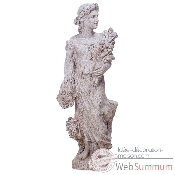 Sculpture Goddes of Spring, pierres granite -bs3133gry