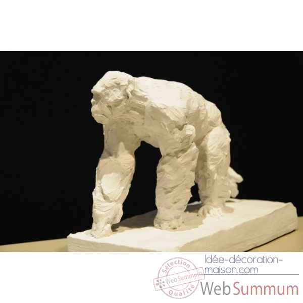 Chimpanze marchant Borome Sculptures -chimp2
