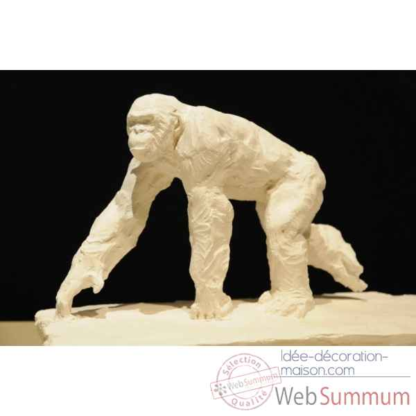 Chimpanze qui marche Borome Sculptures -chimp4