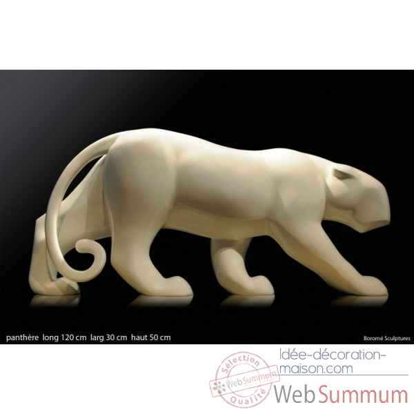 Panthere en resine Borome Sculptures -panther