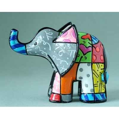 Mini figurine elephant gris britto romero -b334446