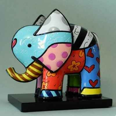 Statuette elephant on base Britto Romero -B334305