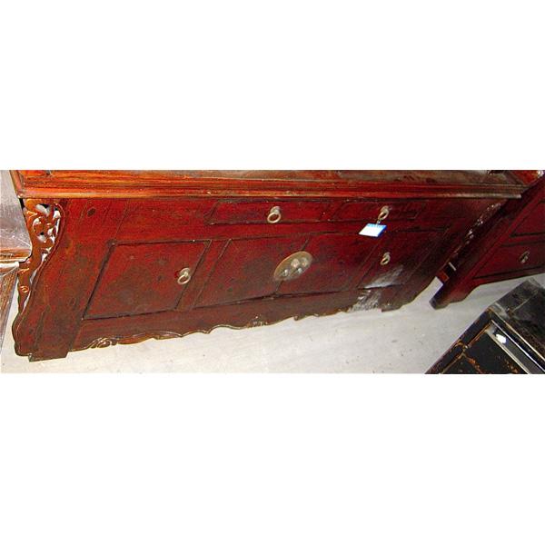 buffet ailette rouge laqu style chine chn247 dans buffet de meuble chinois. Black Bedroom Furniture Sets. Home Design Ideas