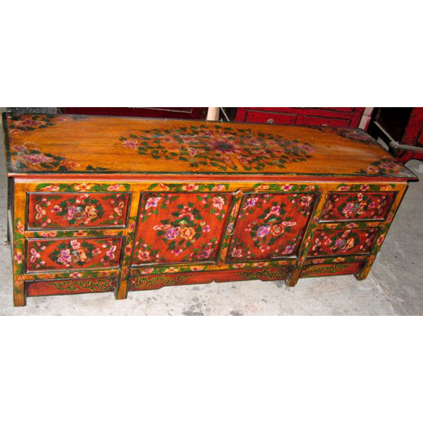 Buffet bas tibet style chine c0620 de art design chinois for Meuble chine design