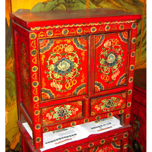 Buffet 2 portes et 2 tiroirs tibet style chine c0938 dans for Meuble chine design