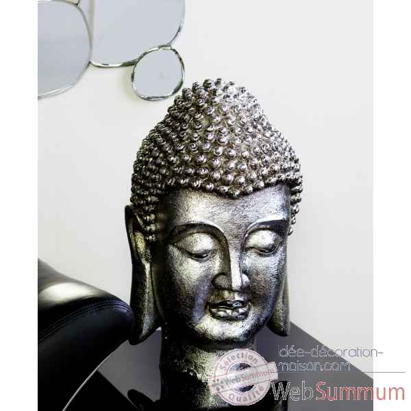 Tete de buddha poly antique argent Casablanca Design -59502