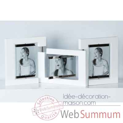 "Cadre photo ""triple"" Casablanca Design -41821"