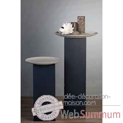 "Colonne ""tower\"" metal gris 70 cm Casablanca Design -54720"