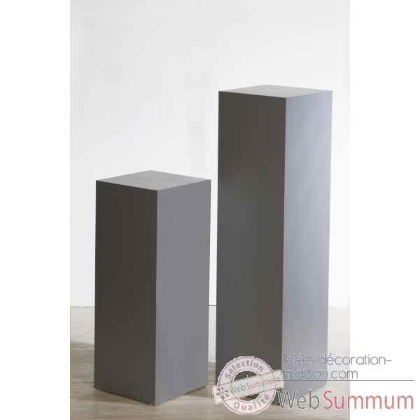 colonne en bois argent gris 100 cm casablanca design 71043 dans objets de d coration. Black Bedroom Furniture Sets. Home Design Ideas