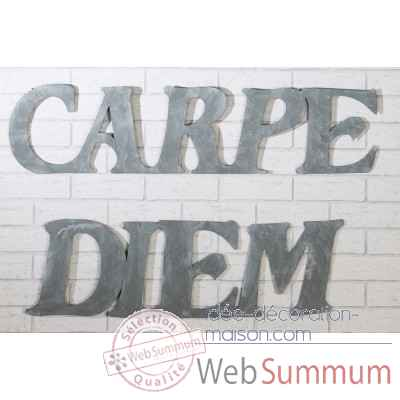 "Decoration murale ""carpe diem"" Casablanca Design -74273"