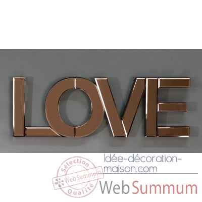 "Inscription / miroir ""love"" Casablanca Design -87340"