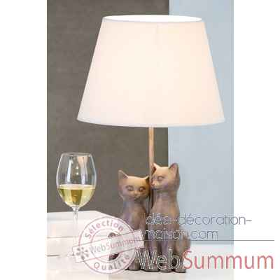 "Lampe ""couple de chats"" Casablanca Design -79085"