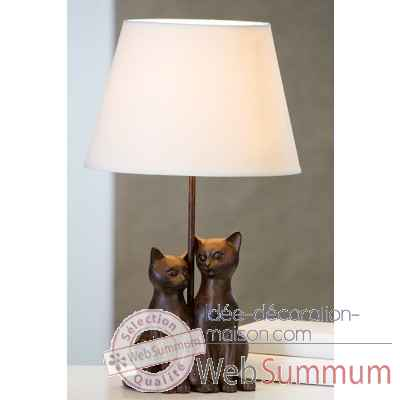 "Lampe ""couple de chats"" Casablanca Design -79086"