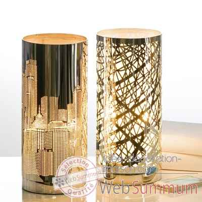 "Lampe de table ""skyline"" Casablanca Design -39246"