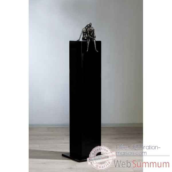 Colonne en mdf noir brillant Casablanca Design -71294