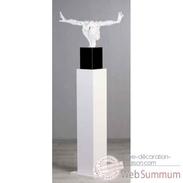 Colonne en mdf blanc brillant 100 cm Casablanca Design -71293