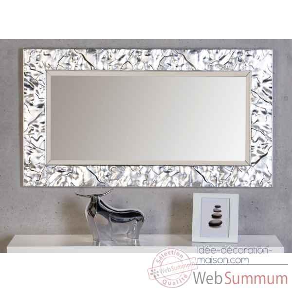 Miroir factory mat argent casablanca design 54590