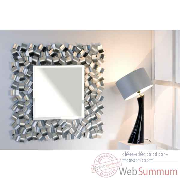 Miroir blizzard m tal verre casablanca design 54792 for Decoration de miroir