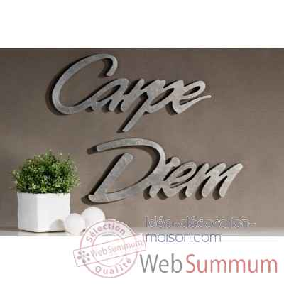 "Mots ecrits ""carpe diem"" Casablanca Design -51519"