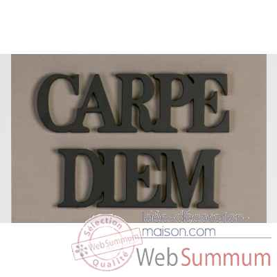 "Mots ecrits ""carpe diem"" Casablanca Design -71057"