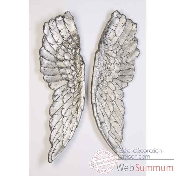 "Objet ""wings\"" antique argent Casablanca Design -59319"