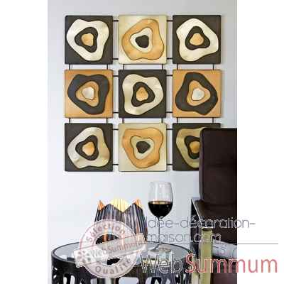 "Objet mural ""blur of color"" Casablanca Design -54964"