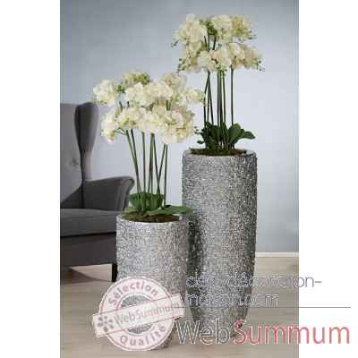 "Pot a fleurs ""rock"" Casablanca Design -79203"