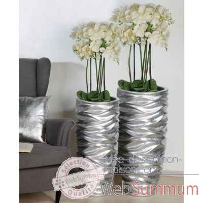 "Pot a fleurs ""waves"" Casablanca Design -79216"