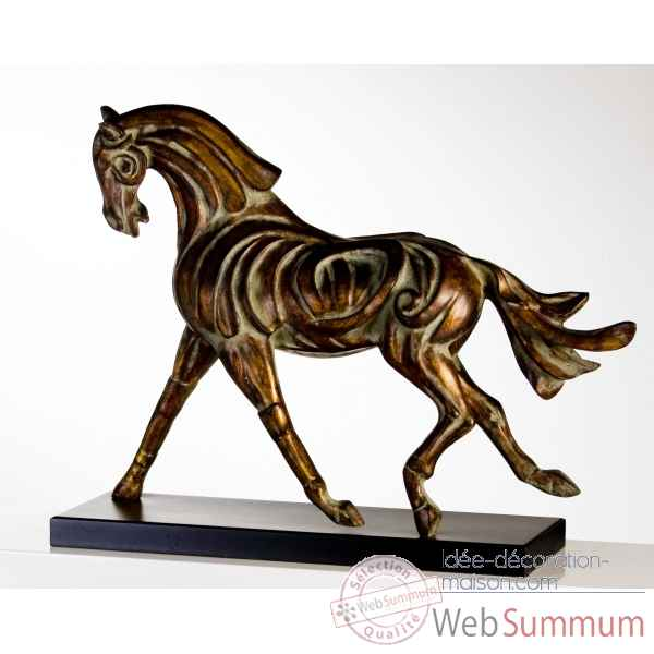 "Sculpture ""firehorse\"" bronze Casablanca Design -51955"