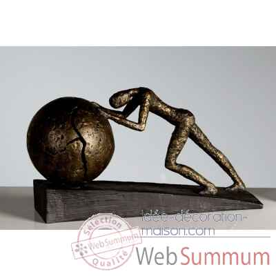 "Sculpture ""heavy ball"" Casablanca Design -59598"