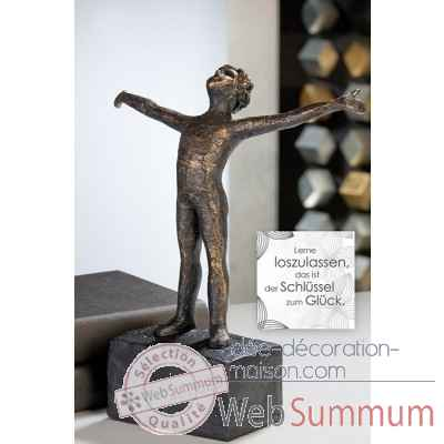 "Sculpture ""lucky"" Casablanca Design -79187"