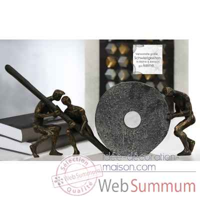 "Sculpture ""teamwork"" Casablanca Design -79189"
