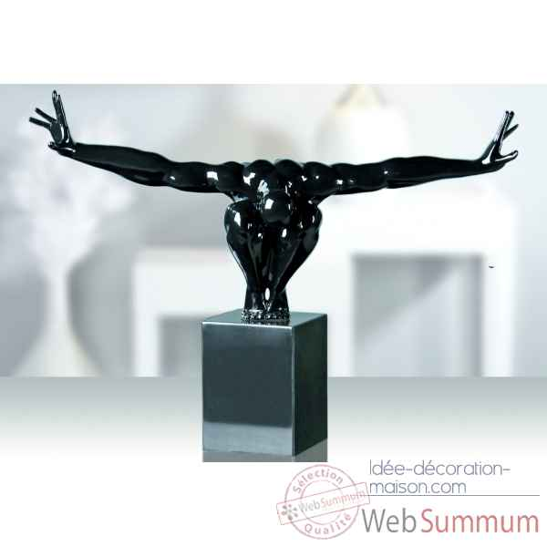 "Sculpture ""cliffhanger\"" noire Casablanca Design -32433"