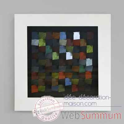 "Tableau ""color blocks"" Casablanca Design -71439"
