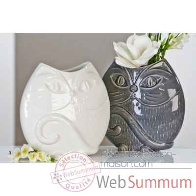 "Vase ""chat"" Casablanca Design -26425"
