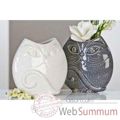 vase chat casablanca design dans objets de d coration sur id e d coration maison. Black Bedroom Furniture Sets. Home Design Ideas
