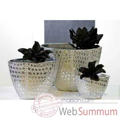"Vase ""chrome"" Casablanca Design -26842"