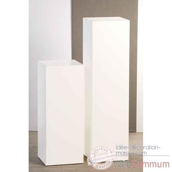 colonne en bois blanc brillant 70 cm casablanca design dans objets de d coration. Black Bedroom Furniture Sets. Home Design Ideas