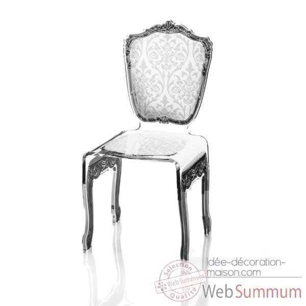 Chaise Baroque Blanche Acrila