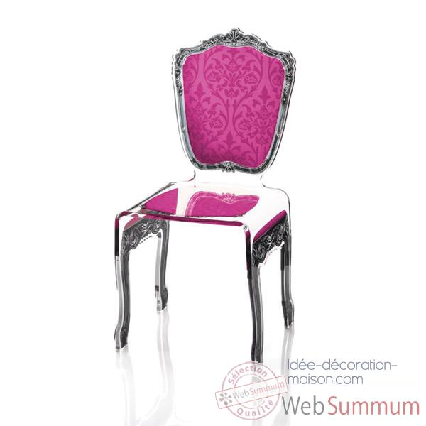 Chaise baroque rose Acrila - 0007