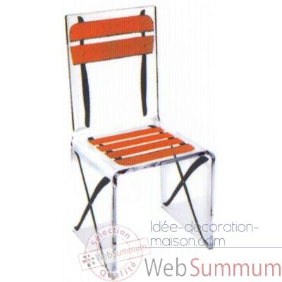 Chaise Aqua Single Terrasse Orange design Samy, Aitali
