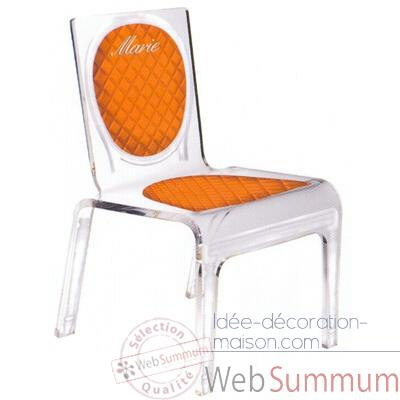Chaise personnalisable Baby Chic Orange Aitali