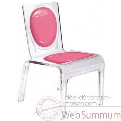 Chaise personnalisable Baby Gloss Orange Aitali