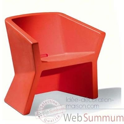Chaise Design Rouge Exofa Slide - SD EXO050