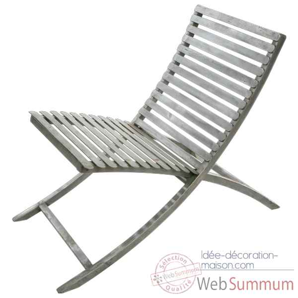 Chaise Metal jardin couleur blanche Hindigo -JE12WHI