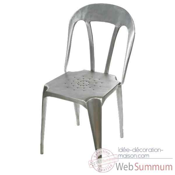 Tabouret en m tal blanc hindigo je67whi sur id e - Chaise metal couleur ...