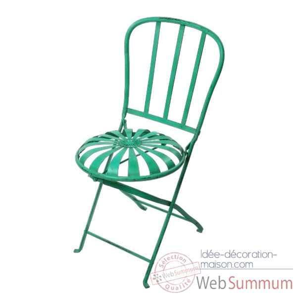 chaise pliante m tal couleur orange hindigo jc73ora de meuble ethnique. Black Bedroom Furniture Sets. Home Design Ideas